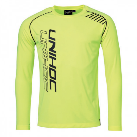 Unihoc funkčné tričko Warm-Up LS neon yellow
