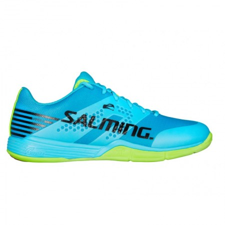 SALMING Viper 5 Men Shoe Blue Atol/New Fluo Green