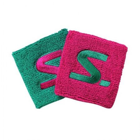 SALMING Potítka Wristband 2-Pack Diva Pink/Turquoise