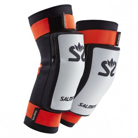 SALMING Kneepads E-Series White/Orange chrániče kolien