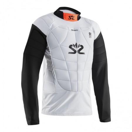Salming E-Series Protectiv Vest White/Orange brankárska vesta