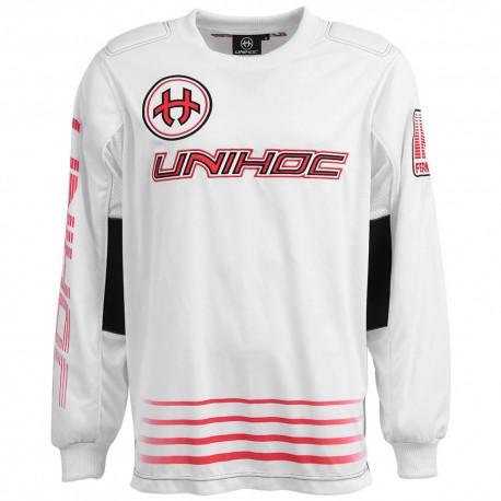 Unihoc Inferno White-Neon red SR