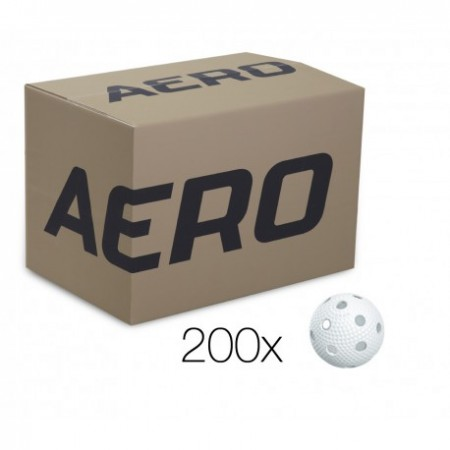 SALMING Aero Ball, box of 200pcs, white with dumples