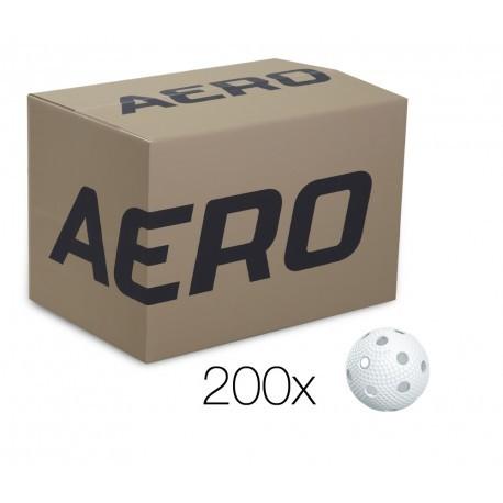 SALMING Aero Ball, box of 200pcs, white with dumples