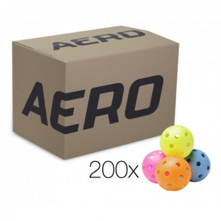 SALMING Aero Ball, box of 200pcs, color mix with dumples