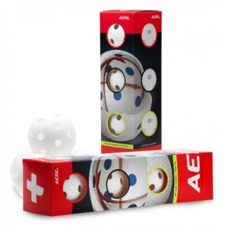 Salming Aero Plus Ball White 4-pack