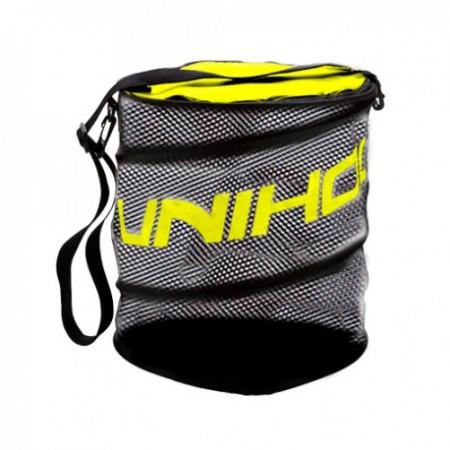 Unihoc vak na loptičky Ballbag flex black/neon yellow