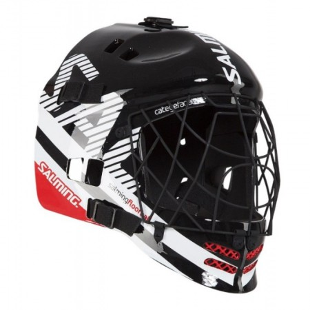 SALMING Travis Elite Helmet Black/Gecko Green