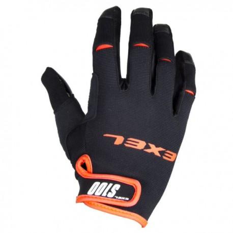 1b10e9fec1c75 EXEL S100 brankárske rukavice black/orange