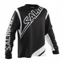 Salming Phoenix Black/White JR brankársky dres